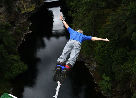 The jump of your life:Bungee Jumping!