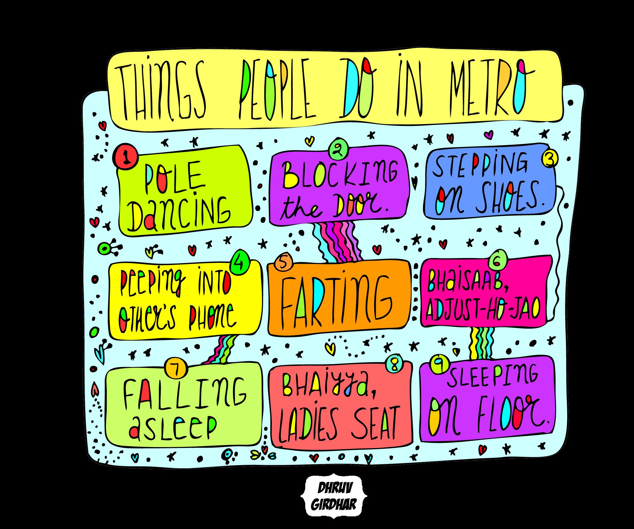 Annoying Things People Do In Delhi Metro
