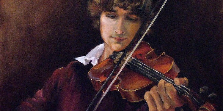 Dr Carter Painting Violinist 008